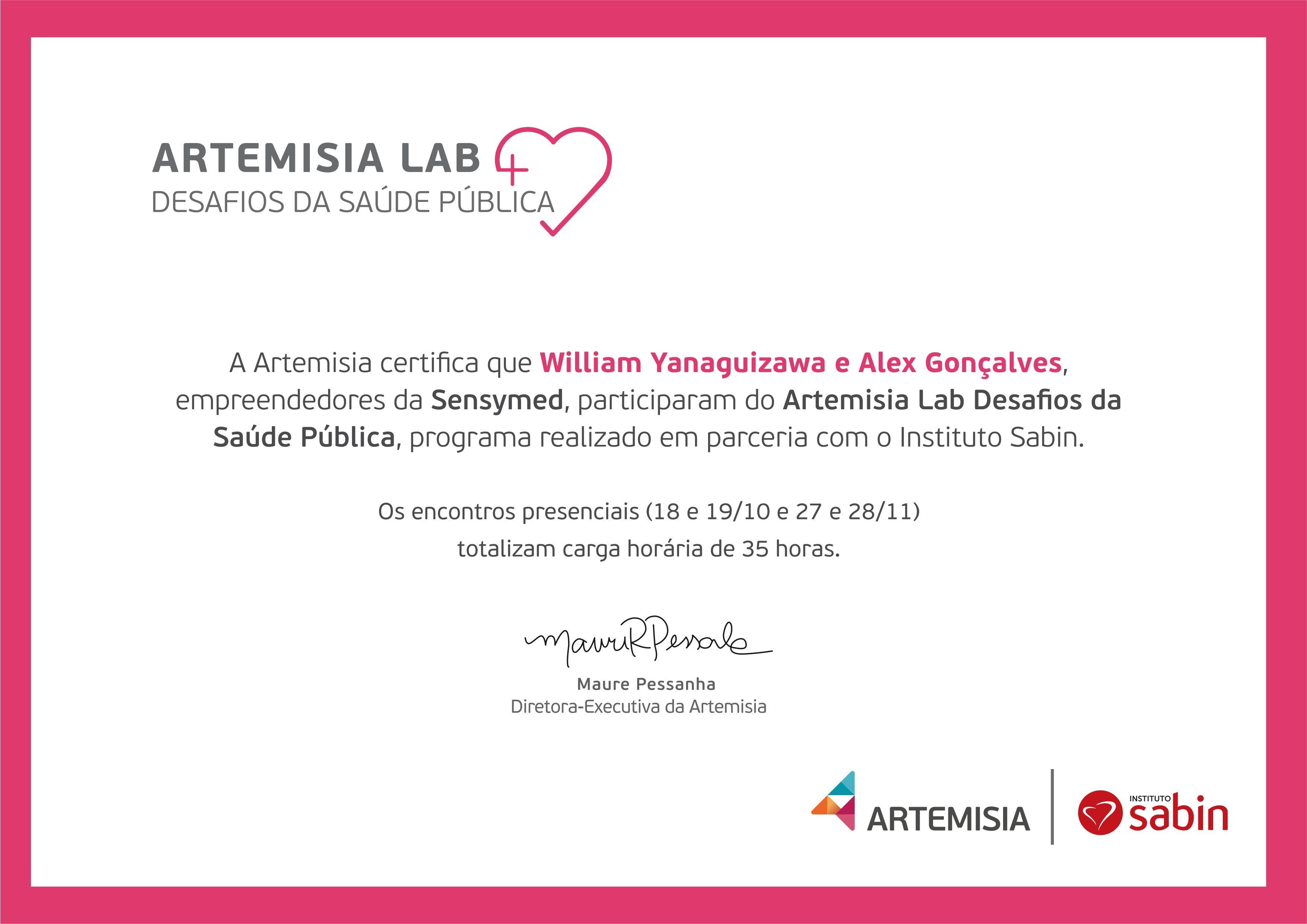 Certificado Artemisia