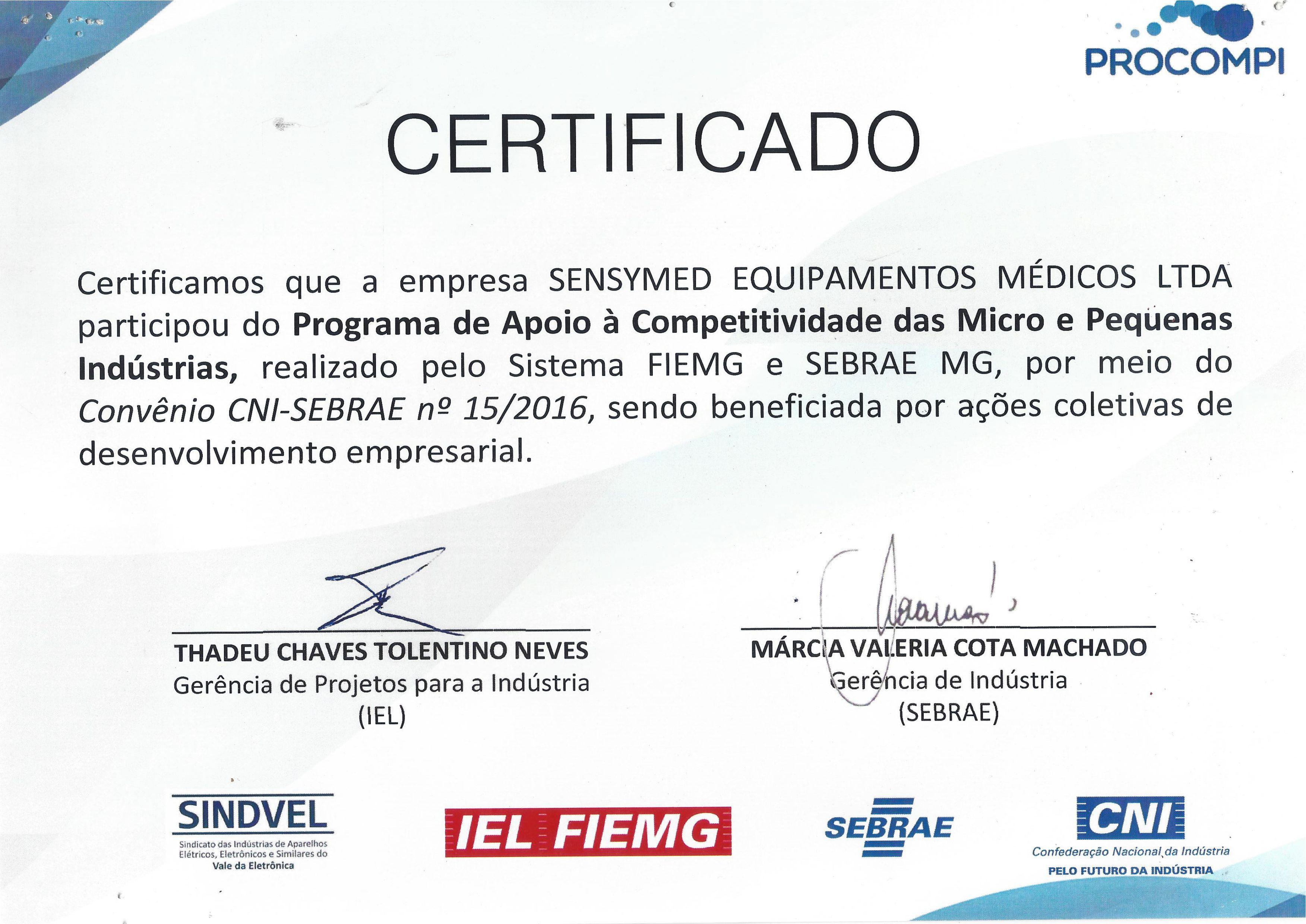 Certificado PROCOMPI