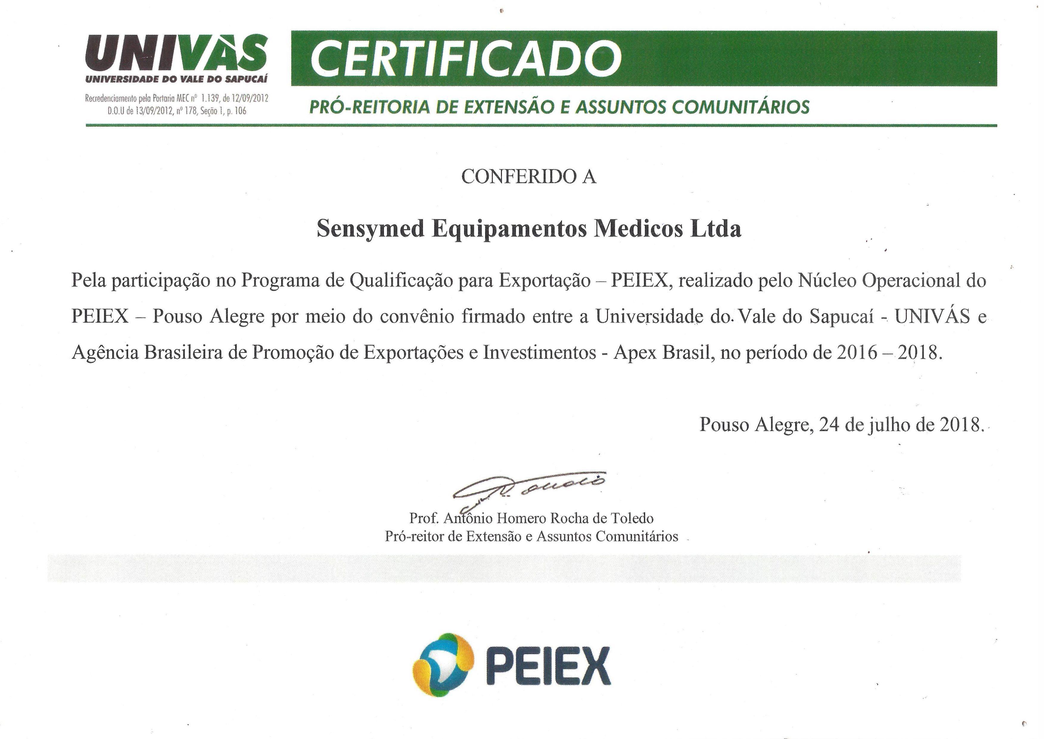 Certificado UNIVAS